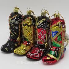 kurt adler noble gems western cowboy boot ornaments c1715