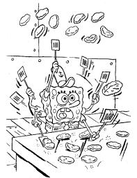 jeux de bob l 駱onge qui cuisine coloriage bob l éponge qui fait la cuisine coloriages à imprimer