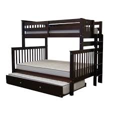 Bunk Bed With Twin Over Full by Furniture Bedz King Twin Over Full Bunk Bed With Twin Trundle