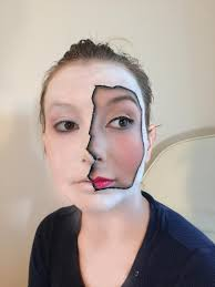 broken porcelain halloween makeup with cassy from exquisitely chic