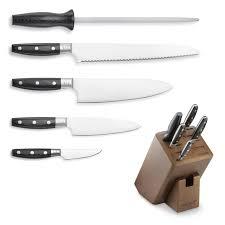 gourmet kitchen knives wolf gourmet 6 knife block set williams sonoma