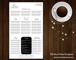 design u0026 templates menu templates wedding menu food menu bar