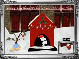 brown christmas snoopy dog house second marketplace snoopy christmas dog house