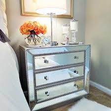 Affordable Mirrored Nightstand Mirror Recomended Mirrored Nightstand For Home White Mirrored