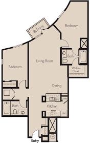 Two Bedroom Floor Plans University Glen Town Center Csu Channel Islands