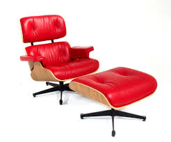 retro chair and ottoman retro red all italian leather lounge chair ottoman charles ray