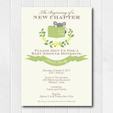 stock the library baby shower invitation gender neutral baby