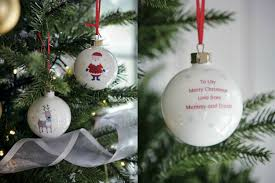 personalised christmas decorations perfect for popping in the