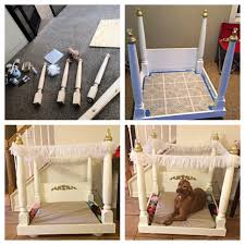 doll bed dog bed catbed beautiful 4 post wood canopy hand made diy dog bed love this for my pups