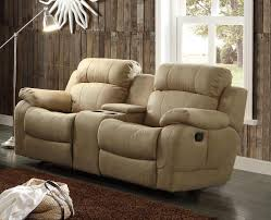 Loveseat Recliner With Console Homelegance Marille Double Glider Reclining Love Seat With Center