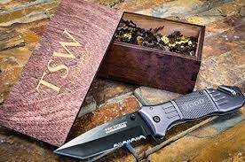 groomsmen pocket knife custom tactical knife personalized wooden box engraved wood