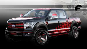 ford sema 2015 custom trucks preview