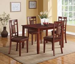Cherry Dining Room Furniture Acme 71164 Sonata 5 Pieces Cherry Dining Table Set