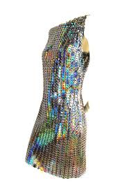Holographic Clothing For Sale Paco Rabanne Holographic Runway Disc Dress For Sale At 1stdibs