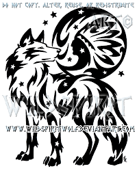 starry wolf and indian moon design by wildspiritwolf on deviantart