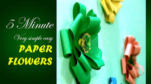 only 5 minute make a very simple easy paper flowers for your home