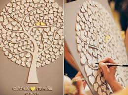 wedding tree custom wedding guest book alternative 3d wedding tree guest book