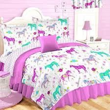 Girls Horse Comforter Horse Bedding Amazon Com