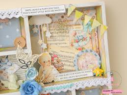 baby shadow box dress my craft shadow box with precious baby boy paper pack a