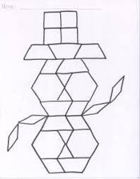 pattern blocks math activities pattern block shapes shape design math and template