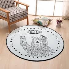 aliexpress com buy round black white bear carpet kids room