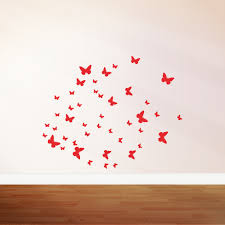 red butterflies wall decals beautify your childs room with red butterflies wall decals