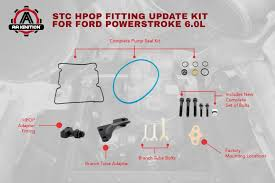 amazon com 6 0l powerstroke stc hpop fitting update kit for ford