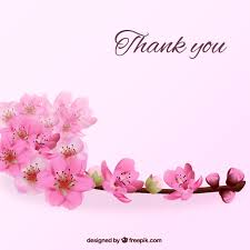 thank you flowers thank you background with flowers vector free