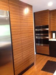 kitchen cabinets made with reconstituted quarter cut rosewood from