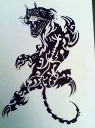 panther tribal by gbftattoos on deviantart