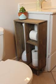 bathroom vanity makeover ideas hide unsightly toilet items with this diy side vanity storage unit
