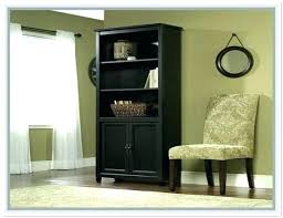 Espresso Bookcase With Doors 5 Shelf Bookcase With Doors Hercegnovi2021 Me