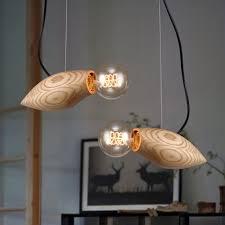 wood light pendant light for dining room bedroom fish swim retro