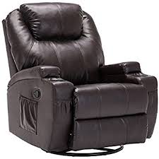 amazon com recliner genius massage recliner chair leather heated