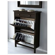 hemnes shoe cabinet with 2 compartments black brown ikea and shoe