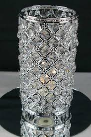 vintage crystal candle holder centerpiece 9 5 in x 4 75 in chrome