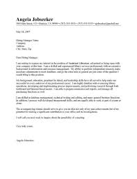 Library Resume Cover Letter Library