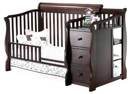 Baby Cribs That Convert To Toddler Beds Crib Changer Combo In Cherry Babies R Us Baby Cribs With Changing