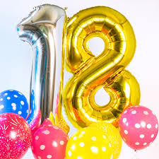 balloons for 18th birthday 18th birthday party supplies party pieces
