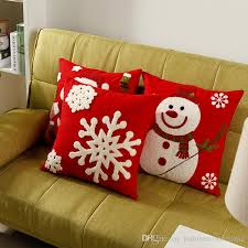 Outdoor Decorative Christmas Pillows by Christmas Festival Sofa Cushion Covers Snowman Pillow Cases
