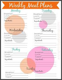 meal planning meal calendar template picklebums menu plan grid