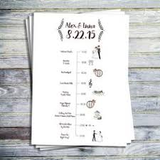wedding day programs 12 rustic wedding day schedules kraft paper twine wedding