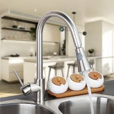 wholesale kitchen faucets brushed nickel wholesale ratile packing 360 spray swivel single