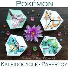 paper toys pokemon evolution flextangles hattifant
