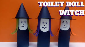 halloween craft toilet paper roll witch toilet paper roll