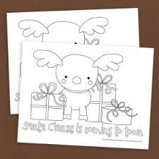free christmas reindeer coloring