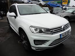 volkswagen jeep touareg used volkswagen touareg suv 3 0 tdi bluemotion tech v6 r line