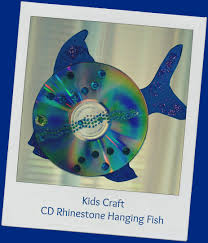 my version of the sequined cd craft fish kids parties