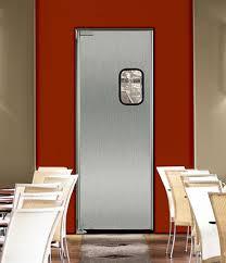 Interior Swinging Doors Sleek Stainless Steel Swinging Doors For Commercial Kitchens