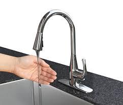 sensor kitchen faucets flow motion sensor high arc kitchen faucet chrome up7000cp